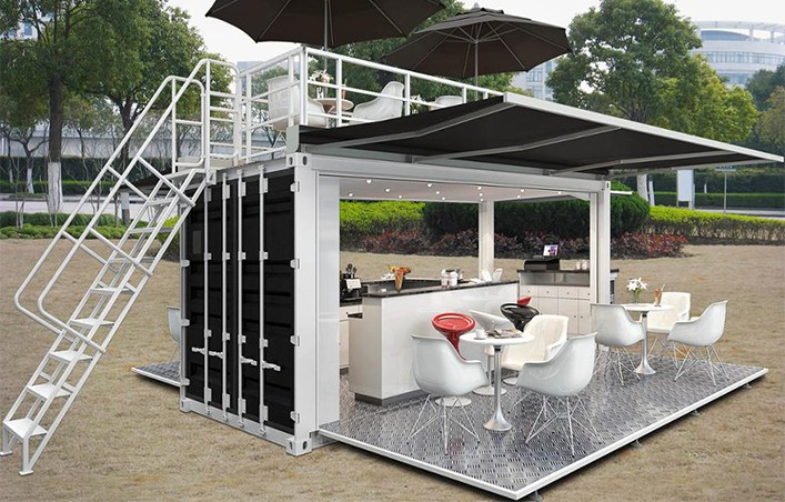 Modified Shipping Container restaurant