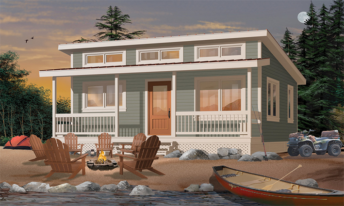 One storey small holiday resort prefab homes